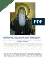 Heiliger Karas, der Anachoret | kopten ohne grenzen