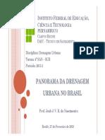 Aula 1 - Panorama Atual Da Drenagem Urbana No Brasil