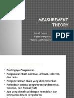 Kelompok 5-Measurement Theory