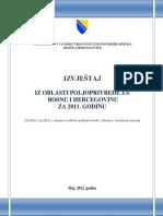 Izvjestaj Iz Oblasti Poljoprivrede Za BiH Za 2011 Godinu (2012)