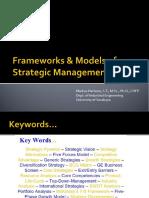 Week2 SSM ModelsFrameworks of Strategic Management