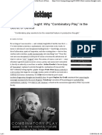 """How Einstein Thought Why """"Combinatory Play"""" is the Secret of Genius – Brain Pickings"""
