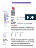 Holmium Oxide Reference for Wavelength in the Visible and UV