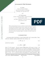 Supersymmetric Fluid Mechanics
