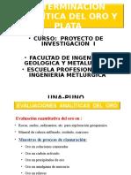Determinacion Analitica Del Oro Carlos