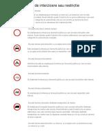 Indicatoare de Interzicere Sau Restrictie
