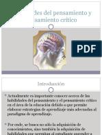 Habilidades del pensamiento y pensamiento crítico
