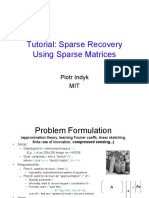 Sparse Recovery (Sparse Matrices)