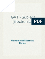 GAT - Subject (Electronics)
