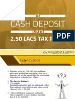 Is Cash Deposit Up to 2.50 Lacs Tax Free