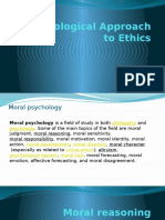 A Psychological Approach to Ethics