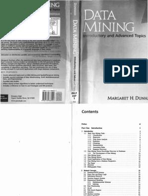 Dunham - Data Mining pdf | Data Mining | Time Series