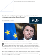 Cinco Razones Para Explicar La Derrota de Matteo Renzi en El Referéndum de Italia - 06.12