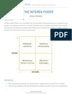 Matriz Interés-poder Ficha