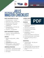 basic skills checklist