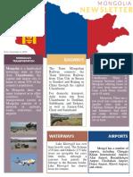 Newsletter MONGOLIA