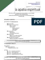 Livres da apatia espiritual - Pv.3.1,2