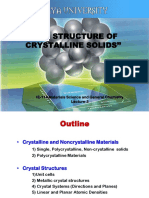 Lecture3-The Structure of Crystalline Solids