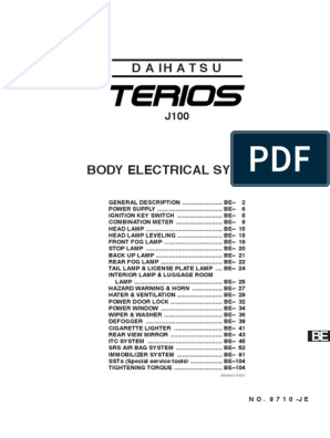 Terios Workshop Manual   Electrical Connector   Color on
