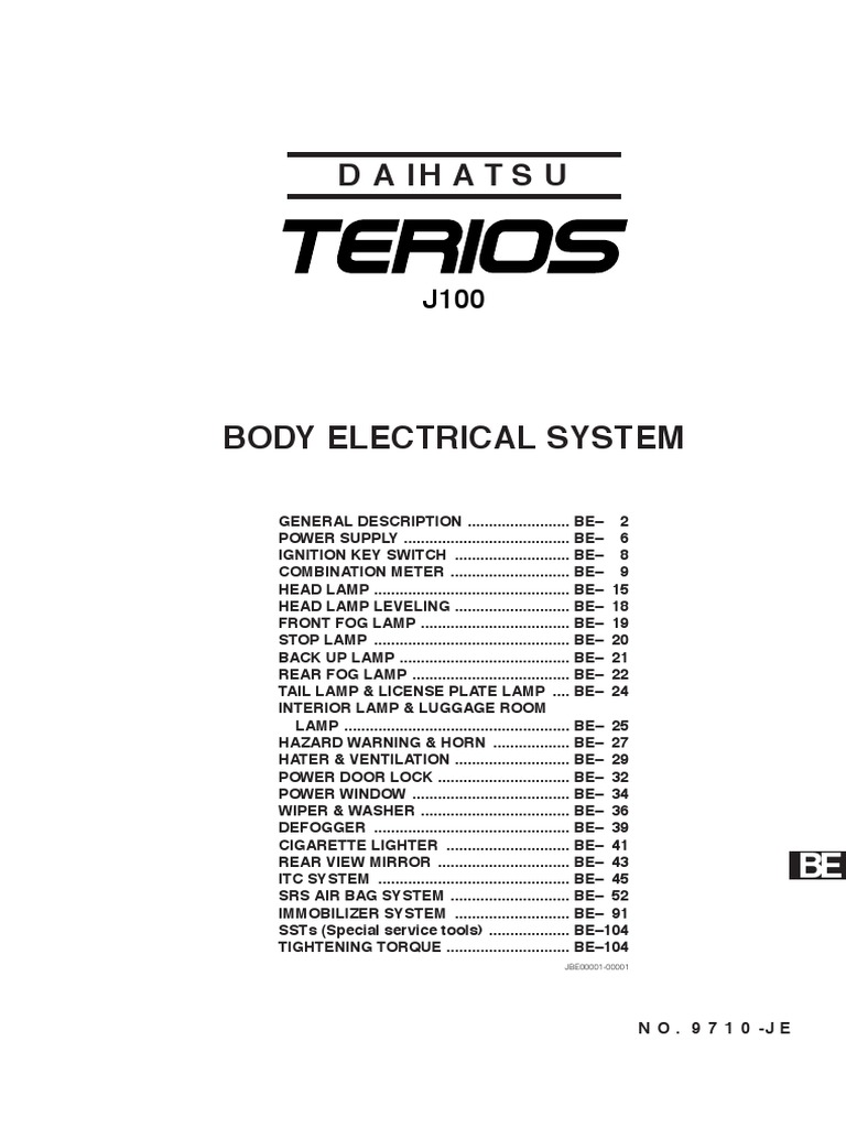 Terios Workshop Manual   Electrical Connector   Color