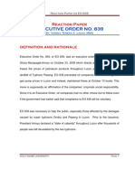 Reaction Paper on EO 839