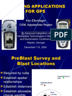 Blasting Application for GPS
