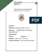 Calibración Frascos Volumetricos