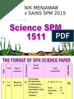 Teknik Menjawab Sains Spm 2015 (Nicklee)