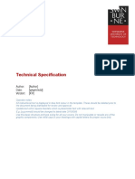 Technical Specification Template