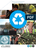 Vermont Recycling Status December 2016