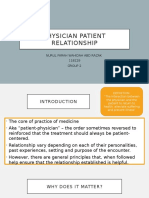 Physician Patient Relationship