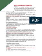 Exercícios Sobre Propriedades Coligativas (1)