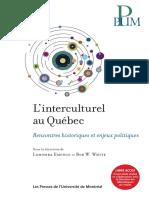 L'Interculturel Au Québec - Rencontres Historiques Et Enjeux Politiques (PUM, 2014)
