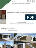 TDA CRESTA DA I-II Expresion Arquitectonica-Materialidades