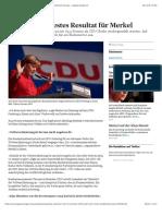 Zweitschlechtestes Resultat für Merkel - News International