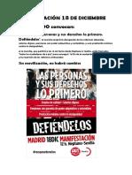 Manifestación 18 de Diciembre
