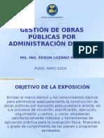 Gestion Obras Por Administracion Directa