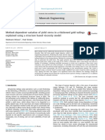 Method-Dependent Variation of Yield Stress in a Thickened Gold Tailings Explained Using a Structure Based Viscosity Model