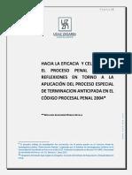 Hacia La Eficacia y Celeridad en El Proceso Penal Peruano