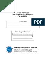 Format Laporan Kemajuan Program PMW 2016