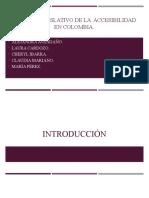 Sistema Legislativo de La Accesibilidad en Colombia