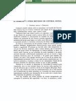 El Derecho Y Otros Metodos De Control Social