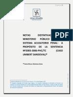 Notas Distintivas Del Mp en El Sistema Acusatorio
