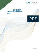 IRENA RE Capacity Statistics 2015