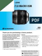 Canon EF S 60mm f 2.8 Macro USM Lens