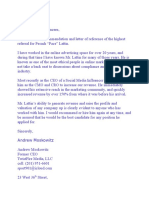 Pesach Lattin Letter of Reference from Andrew Moskowitz,