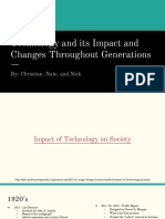 technology and its impact and changes throughout generations