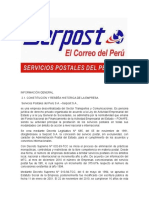 Serpost Datos y Problematica