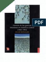 •Gilles Bataillon, Génesis de las guerras intestinas en América Central (1960-1983), capítulo VI