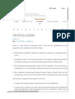 Crystallization Tech